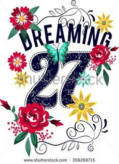Dreaming typography vector typography design for t-shirts