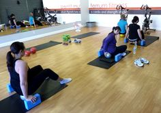 Aggie Winston, Certified YBR practitioner, provides personalized instruction in body rolling.