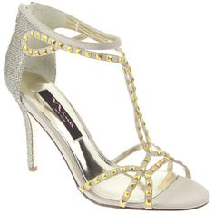 sexy open toe sandal with stud detailing Nina Shoes, Evening Shoes, Carrie Bradshaw, Open Toe Sandals, Dress Sandals, Celebrity Weddings, Beautiful Bride, Dillards, Luster
