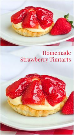 Inspired by the famous Tim Horton's Strawberry Tim Tarts from decades ago, these dessert tarts are sure to hit a nostalgic note; ideal for for Canada Day. Custard Recipes, Tart Recipes, Dessert Recipes, Curry Recipes, Sweet Recipes, Rock Recipes, Strawberry Desserts, Strawberry Tarts, Oreo Desserts