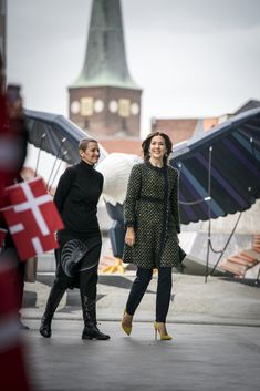 Crown Princess Mary of Denmark arrives for the opening of Aarhus 2017 International Children's Literature HAY Festival on 26 October 2017