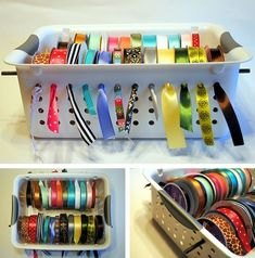 ribbon organizer - Click image to find more DIY & Crafts Pinterest pins