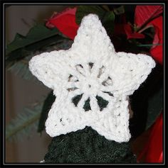 Christmas Star Miniature Tree Topper Download the PDF Adobe Acrobat version: download now Note: You will be making two stars then crocheting them together on the last round.After your&n...
