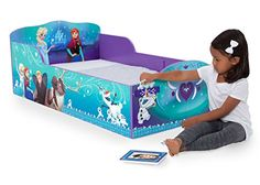 #relief Anna and Elsa reveal the power of sweet slumber on this Disney Frozen Wood Toddler Bed with Track Buddies from #Delta #Children. Perfect for a true Frozen...