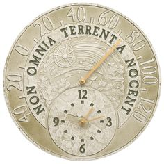 Celestial Indoor/Outdoor Thermometer Wall Clock
