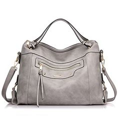 New Trending Purses: Realer Handbags for Women Large Capacity Purse PU Leather Office Shoulder Bag Light Gray. Realer Handbags for Women Large Capacity Purse PU Leather Office Shoulder Bag Light Gray   Special Offer: $35.60      188 Reviews This large capacity handbag is made of soft PU leather,it can be an elegant top handle bag or a casual shoulder bag.Also suitable to use on formal occasions....