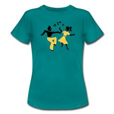 Just the perfect Tee or hoodie design for a swing on the DANCE floor. For all hep cats and hep kittens who love the 1950s life style. Signature apparel by Spreadshirt designer Patjila.