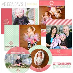 NEW 2012 Dotted Christmas flat template set from Melissa Davis Designs!