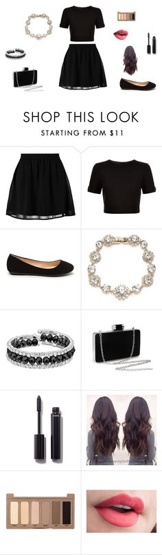 """Untitled #27"" by sara-tadic-1 ❤ liked on Polyvore featuring even&odd, Ted Baker, Marchesa, Franco Gia, Chanel and Urban Decay"