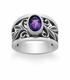 Abounding Vine Ring with Amethyst | James Avery