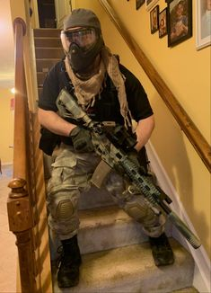 Squad member of Karbon Ghost Paintball, Squad, Guns, Weapons Guns, Revolvers, Weapons, Rifles, Classroom, Firearms