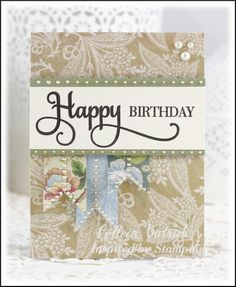 Inspired by Stamping Happy Sentiments stamp set, birthday card