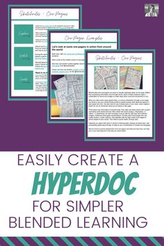 Want to try hyperdocs for your blended learning units, but aren't sure how to start? In this blog post, I'll show you how to create your own hyperdocs easily inside Google Slides, and also share a free example with you of a hyperdoc you can use to introduce sketchnotes and one-pagers. | one-pagers | hyperdocs | sketch notes | English teacher | distance learning Creative Curriculum, Creative Teaching, Middle School Teachers, High School Students, English Teachers, Teaching English, English Classroom Decor, Sketch Notes, Blended Learning