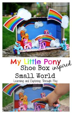 Learning and Exploring Through Play: My Little Pony Small World Shoe Box
