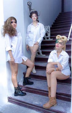 #glamour #whiteshirt #make-up #hairstyle