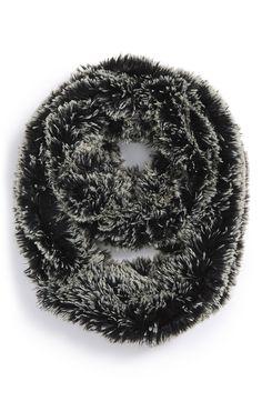 Fluffy infinity scarf.