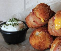 Mashed Potato Bacon Bombs - Perfect for those leftover mashed potatoes from the weekend!   Ideahacks.com