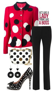 """In the Office"" by easy-dressing ❤ liked on Polyvore featuring RED Valentino and Moschino"