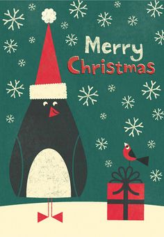 Penguin Merry Christmas by mrmack, via Flickr