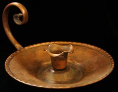 Gregorian Copper Candle Holder With Handle Made by SycamoreVintage, $29.00