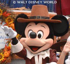 Pilgrim Mickey Mouse at Thanksgiving WDW.