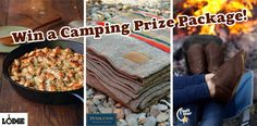 Great outdoors giveaway! Enter to win a Lodge cast iron skillet, a Pendleton blanket, and a pair of leather shoes.