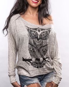 Owl Zentangle Premium Off Shoulder