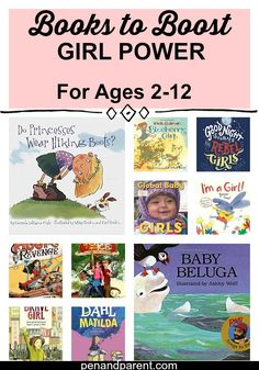 Are you looking for great books for your daughter to read? Discover these great books to boost girl power. They will help raise your daughter to be strong, healthy, and persistent. Line your bookshelves with books about girls with an adventurous spirit, leadership abilities, and strength of character. The book list is for girls or boys between the ages of 2-12. Click through or save to read later. Your daughter will thank you for it later. via @http://www.pinterest.com/penandparent