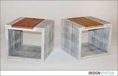Concrete side tables by Jeremy Kaplan