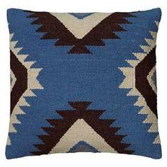 Rizzy Home Textured Southwestern Stripe Pillow - Blue/Black : Target