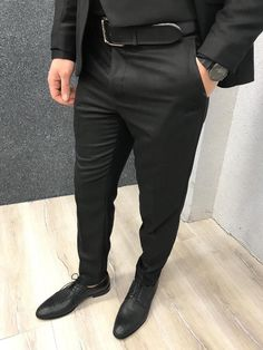 Suit material: Wool , Poly, Lycra Machine washable : No Fitting : Regular Slim-fit Remarks: Dry Cleaning Only Mens Fashion Suits, Mens Suits, Man Fashion, Fashion Outfits, Black Suit Men, Wedding Suits, Wedding Dress, Slim Fit Suits, Fitted Suit