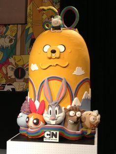 Jake Cake, la tarta del 20º Aniversario de Cartoon Network
