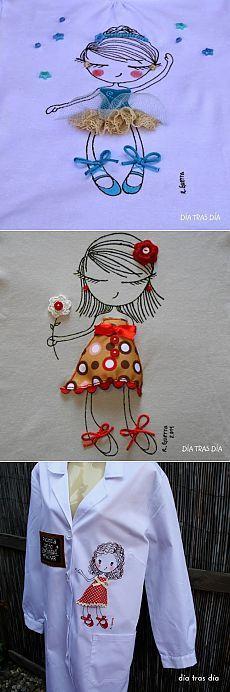 Девчонки - куколки (трафик) / Аппликации / Своими руками - выкройки, переделка одежды, декор интерьера своими руками - от ВТОРАЯ УЛИЦА