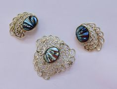 Sara Coventry pin and earring set by belleofnewyork315 on Etsy