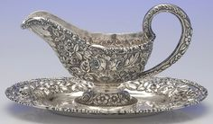 Sterling Silver Gravy Boat and Underplate Stieff
