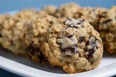 Dark Chocolate Chunk and Dried Cherry Oatmeal Cookies