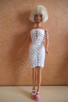 tuto gratuit barbie: mini robe fourreau asymétrique