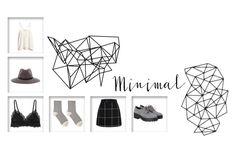 """""""Minimal Template"""" by funerl4yesterday ❤ liked on Polyvore featuring Monki, Hansel from Basel, Cosabella, rag & bone, H&M, Color Me and WALL"""