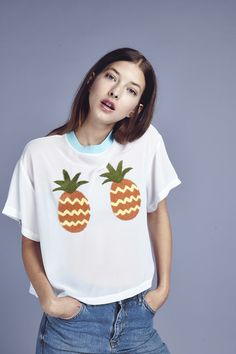 Lazy Oaf Pineapple Boobs Crop T-shirt  http://www.lazyoaf.com/lazy-oaf-pineapple-boobs-crop-t-shirt