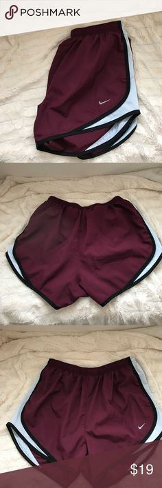 M crimson Nike Dri-Fit Tempo Shorts Size medium. Crimson. Great conditon. No stains/tears/imperfections. Nike Shorts