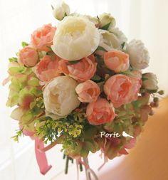 バラと紫陽花のクラッチブーケ |Wedding Flower・ぽると のブログ|Ameba (アメーバ)