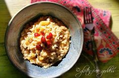 Acorn squash risotto recipe that is vegan and gluten free