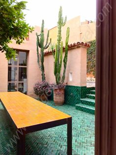 Through the French eye of design: Taroudant Morocco, The colour of a french designer's house Outdoor Rooms, Outdoor Gardens, Outdoor Living, Outdoor Patios, Exterior Design, Interior And Exterior, Boho Home, Color Tile, Garden Design