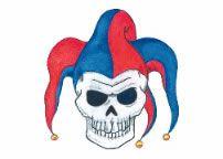 Jester Skull Tattoo Fake Tattoos, Skull Tattoos, Tattoos For Guys, Halloween Skull, Halloween Costumes, Jester Tattoo, Costume Makeup, Tattoo You, Temporary Tattoo