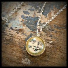 Vintage Moon Handmade Glass Pendant Necklace by finderskeepers75, $15.00