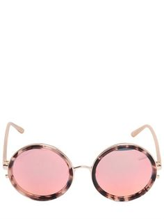 Matthew Williamson By Linda Farrow - Rounded Sunglasses With Mirror Lens 3a2cd30e43