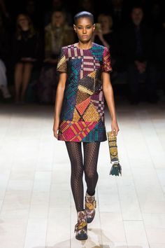 """Burberry Prorsum - """"It's like an abstract embellished take on Burberry plaid."""""""