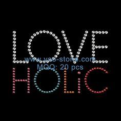 Design Love Holic Motif Rhinestone