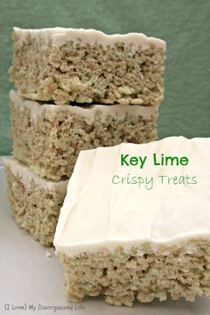 Key Lime Crispy Treats/ {I Love} My Disorganized Life