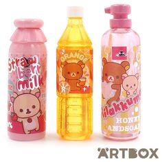 Buy San-X Rilakkuma Bottle Shape Pencil Cap Set - Orange Juice at... (45 MAD) ❤ liked on Polyvore featuring home and home decor